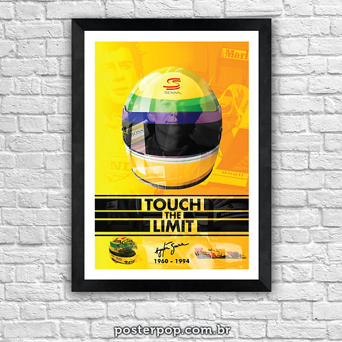 "Poster Ayrton Senna ""Touch The Limit"""