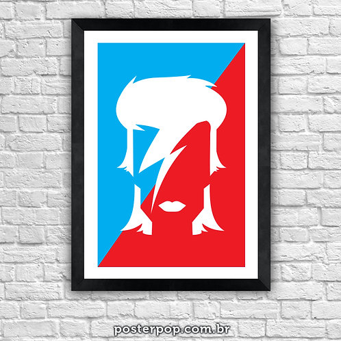 Poster David Bowie Red and Blue