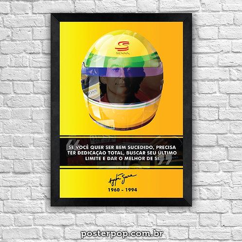"Poster Ayrton Senna ""Sucesso"""