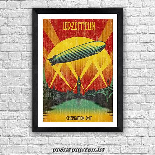 Poster Led Zeppelin Celebration Day Vintage