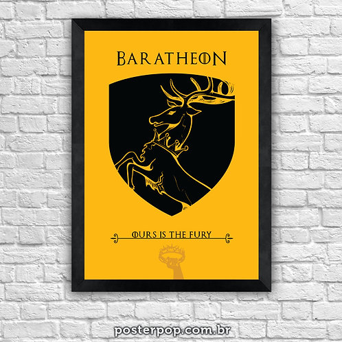 Poster Game Of Thrones - Baratheon House