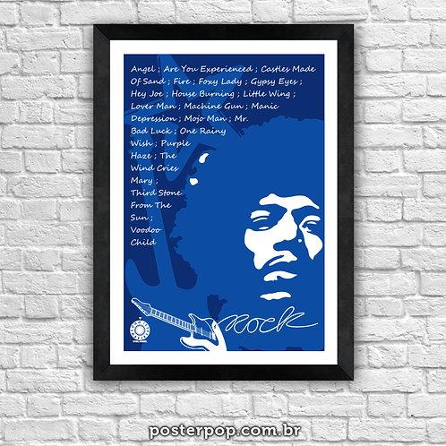 Poster Jimmy Hendrix - Rock Blue