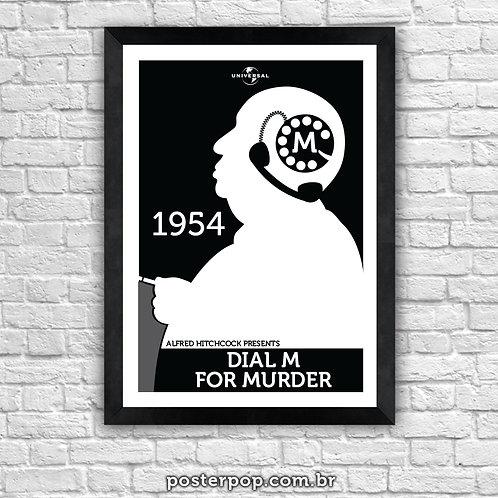 Poster Hitchcock Disque M para Matar