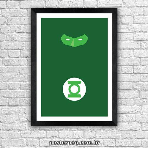Poster Lanterna Verde Minimalista