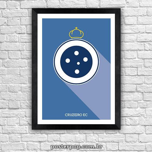 Poster Brasão Cruzeiro Minimalista
