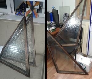 Подготовка стекла к изготовлению витражей