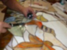Изготовление витража тиффани
