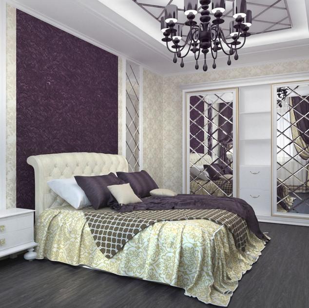 Гравировка в интерьере спальни