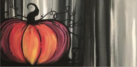 Fall Painting :  Pumpkin