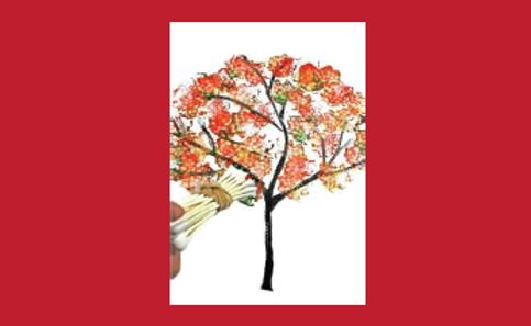 Fall Painting:  Tree Scene