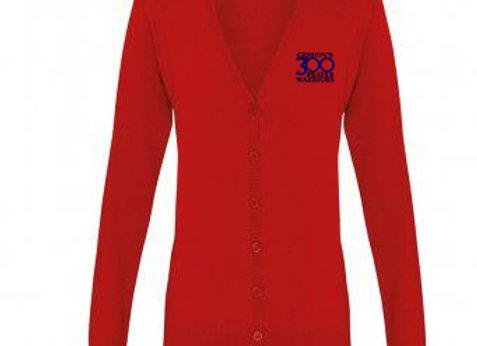 Senior - Ladies Cotton Acrylic V Neck Cardigan