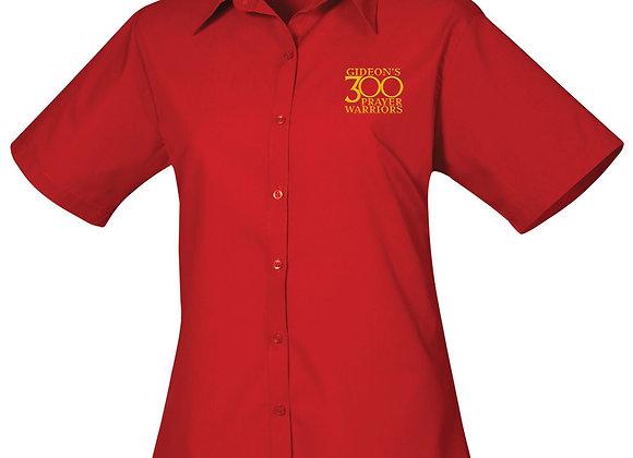 Senior - Ladies Short Sleeve Poplin Blouse