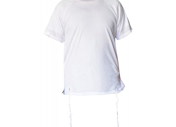 Talitnia Dry-Fit Tzitzit T-shirt With Kosher Tzitzis - White