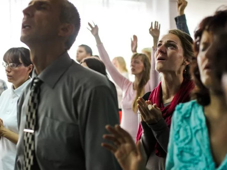 Congregational singing discouraged but all aspects of church life permitted inside place of worship