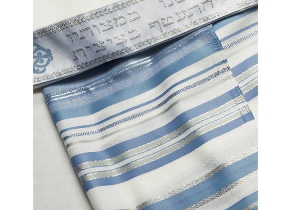 Talitnia Beney Or Tallit - Sons of Light Modern Wool Prayer Shawl - Light Blue