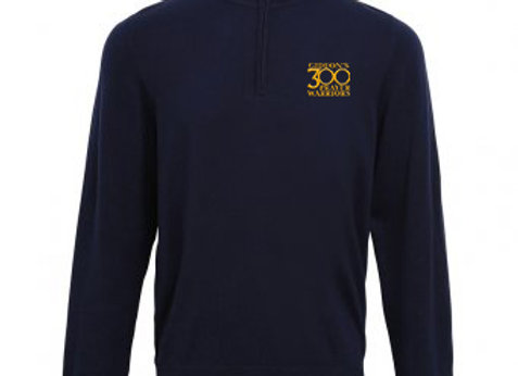 Mens Premier 1/4 Zip Neck Knitted Sweater