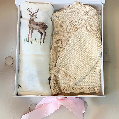 Knitwear & Swaddle Blanket Set