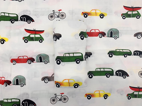 Car Print Bamboo Swaddle