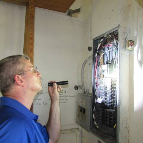 Inspecting the electrical panel