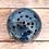 Thumbnail: BRÛLEUR D'ENCENS | grès rouge et émail bleu nuit