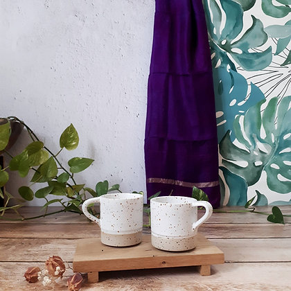 TASSE A CAFE AVEC ANSE   blanc pur