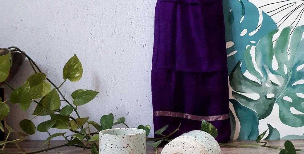 TASSE A CAFE | grès à pyrites et émail vert turquoise