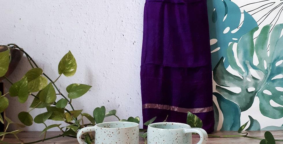 TASSE A CAFE AVEC ANSE   vert turquoise