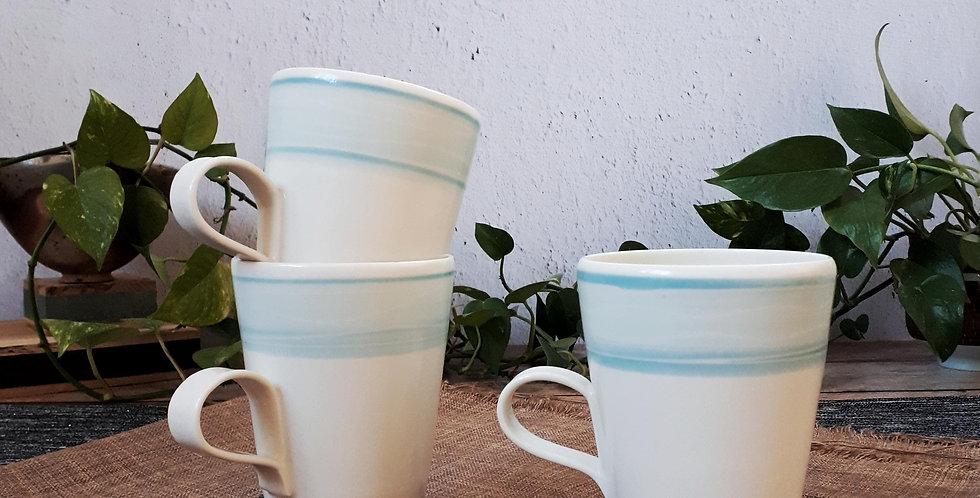 MUG | porcelaine et engobe turquoise