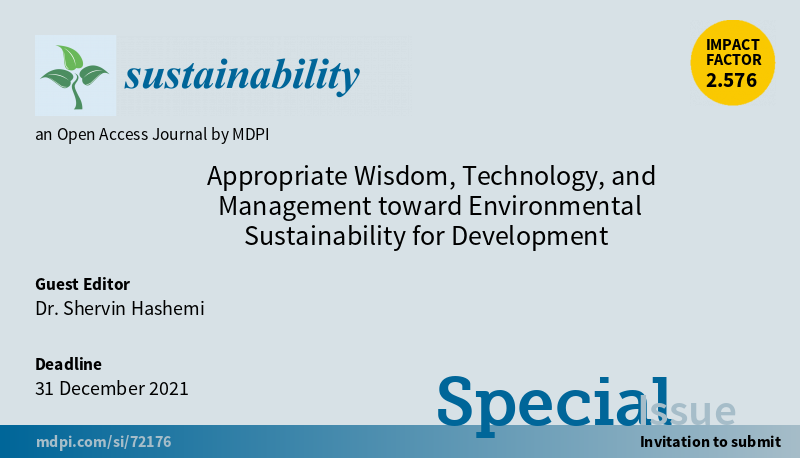 Appropriate Wisdom, Technology, and Management toward Environmental Sustainability for Development