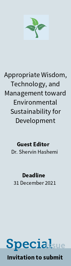"""Special Issue """"Appropriate Wisdom, Technology, and Management toward Environmental Sustainability for Development"""""""