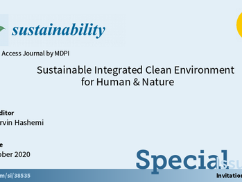 Sustainable Integrated Clean Environment for Human & Nature A special issue of Sustainability Ed