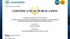 Hashemi's Sanitation Sustainability Index: A Community-Based Indicator for Evaluating Sustainability