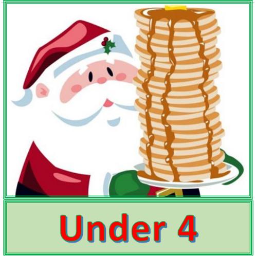 Pancakes with Santa -- Children Under 4