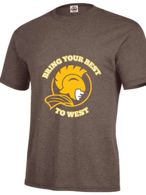 """Vintage Brown """"Bring Your Best to West"""" T-Shirt"""