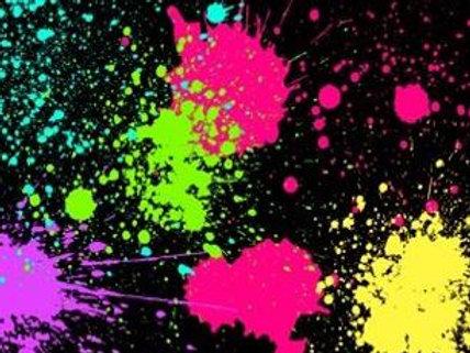 Neon Splatter Paint Kit