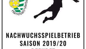 Nachwuchsspielbetrieb Saison 2019/20 wird beendet