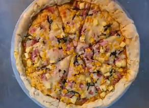 Pizza casera.