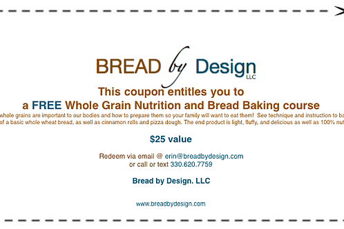 Daily Bread 101 - Basic Whole Grains & Bread Baking Course Coupon