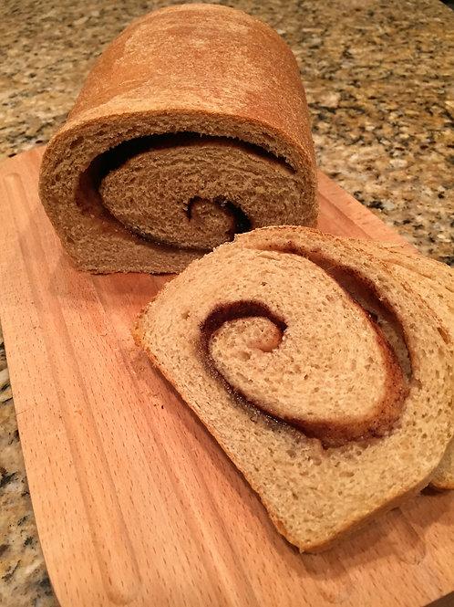 Whole Wheat Cinnamon Swirl (per loaf)