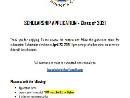 2021 SCHOLARSHIP ANNOUNCEMENT