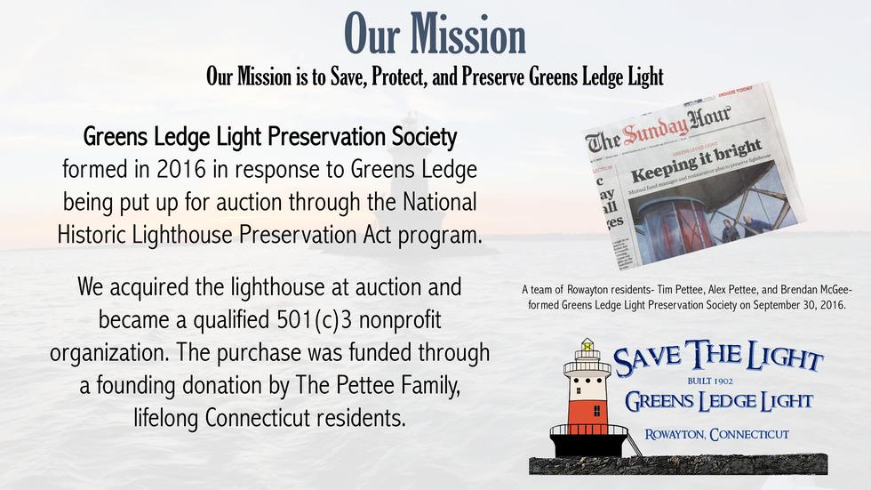 Greens Ledge Light Preservation Soceity