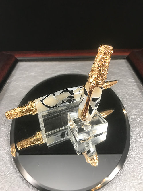 24kt Gold Victorian with Dalmatian Acrylic