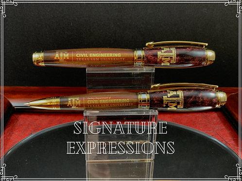 Historic Texas A&M Custom Pen & Pencil Set