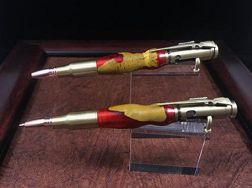 Agarita wood & Alumilite pen & pencil set