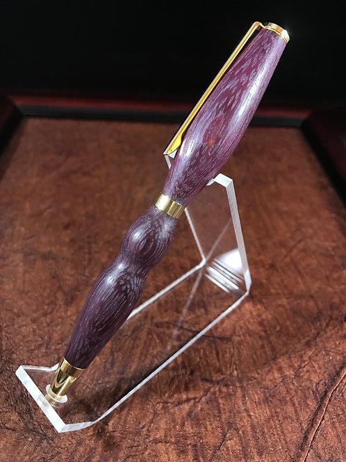 Purple Heart slimline pen