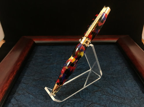 Stained Glass princess pen 24kt Gold