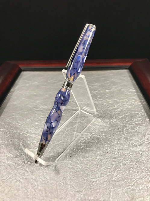 Purple Stained Glass Slimline pen