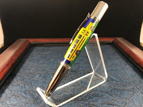 Laser Cut Inlay School Bus Pen