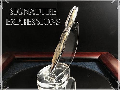 Real Aligator Jawbone and Swarovski Crystal Pen