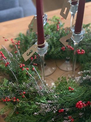 Coroa de Natal  (base de palha)